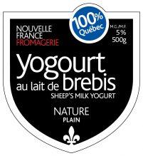 Yogourt de Brebis étiquette