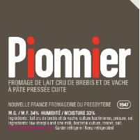 Le Pionnier étiquette